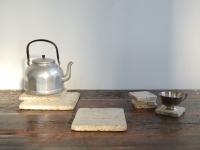 Loft design mészkő poháralátét limestone Coasters Kalkstein-Untersetzer lábos alátét Topfspülmaschine pot washer