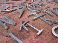 Loft design Alumínium betűk 3