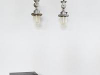 Loft design régi alumínium robbanásbiztos ipari csarnok lámpa old aluminum industrial lamp Alte Industrielampe shabby chic rusty style artkraft