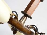 Loft design art deco csillár Art Deco Kronleuchter art deco chandelier üvegbúra glass lampshade Glaslampenschirm ipari industrial industriell shabby chic rusty style artkraft