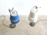 loft design ipari asztali lámpák újrahasznosított industrial recycled desk lamp industrie fabrik schreibtischlampe