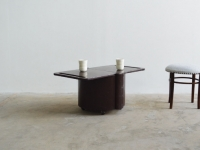Loft design barna dohányzóasztal brown coffee table braun Couchtisch