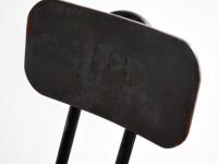 Loft design magasított szovjet katonai szék high Soviet military chair hoher sowjetischer Militärstuhl kárpitozott bőr bárszék industrial leather upholstered bar stool chair Leder gepolsterten Barhocker shabby chic rusty style artkraft