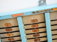 Loft design blokkolóóra kártyatartó time clock card holder Zeit-Uhr-Kartenhalter