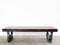 Loft design öntvény dohányzóasztal cast iron coffee table Gusseisen Couchtisch ipari industrial industriell shabby chic rusty style artkraft
