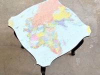 Loft design térkép dohányzóasztal Karte Couchtisch map coffee table ipari indusrial industriell shabby chic rusty style artkraft