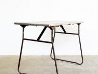 Loft design szovjet fém dolgozóasztal Soviet metal working table Sowjetmetallarbeitstisch ipari industrial industriell shabby chic rusty style artkraft