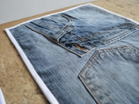 Loft design Újrahasznosított textil alátét teríték Recycled textile placemat place setting Recycling Textil Tischset Gedeck