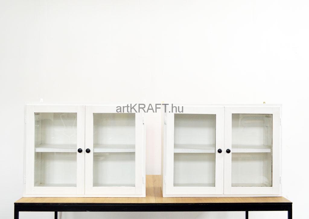 Weiße zweitürige Wandschränke (2 St) - artkraft Loftdesign