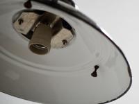 Loft design ipari fekete zománclámpa industrial lamp black enamel industrielle Lampe schwarzer Emaille