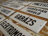 Loft design régi zománctábla felirat old enamel sign alten Emailleschild