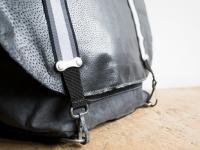 Loft design kerékpáros bőr táska bike leather bag Fahrradtasche Leder újrahasznosított recycled
