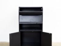 Loft design ébenfekete kisszekrény small ebony cabinet kleinen Ebenholzschrank ipari industrial industriell shabby chic rusty style artkraft