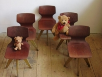 Loft design Retro hajlított gyerekszék Flötotto Vintage chair designed for kids Vintage Stuhl für Kinder entwickelt