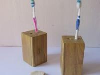 Loft design Tömörfa fogkefe tartó 1