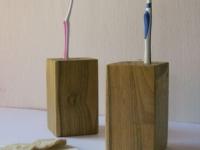 Loft design Tömörfa fogkefe tartó 2