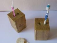 Loft design Tömörfa fogkefe tartó 3