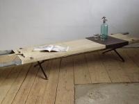 Loft design Ipari hordágy kisasztal Tragbahre Couchtisch Industrial barrow Coffee Table