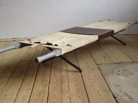 Loft design Ipari hordágy kisasztal Tragbahre Couchtisch Industrial barrow Coffee Table