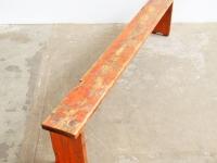 Loft design régi egyszerű piros pad old red bench alte rote Bank ipari industrial industriell shabby chic rusty style artkraft