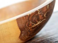 Loft design Esztergályozott natur natural fatál Holzschale wood bowl ipari industrial industriell shabby chic rusty style artkraft