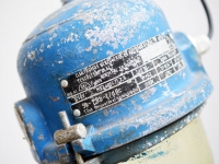 Loft design régi ipari kék robbanásbiztos lámpa Fabrik blaue Lampen Bunkerlampen Factory pendant blue industrial lamps ipari industrial industriell shabby chic rusty style artkraft