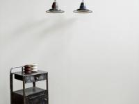 Loft design Régi üzemi zománcozott mennyezeti lámpa Old industrial lamp Industrielampe
