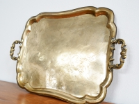 Loft design nagyméretű réztálca G FORST B19 große Kupferschale Large brass tray shabby chic rusty style artkraft