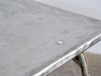 Loft design régi industrial ipari industriell kerti asztal garden table Gartentisch shabby chic rusty style artkraft