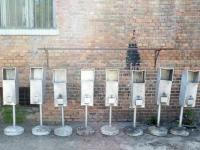 Loft design kültéri alumínium szemetes Outdoor aluminum waste bin Aluminium Außen trash ipari industrial industriell shabby chic rusty style artkraft