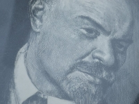Loft design Ipari dekoráció Lenin kép rézkarc szocialista kommunista communist socialist Lenin picture etching Sozialist Kommunist Ätzen Bild