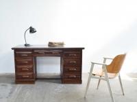 Loft design Lingel desk with drawers Lingel Schreibtisch mit Schubladen Lingel íróasztal fiókokkal vintage industrial antik antique ipari industrial industriell shabby chic rusty style artkraft