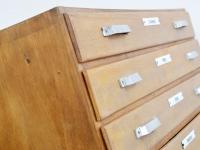 Loft design magas fiókos szekrény chiffonier hoch Schublade Schrank high drawer cabinet ipari indusrial industriell shabby chic rusty style artkraft