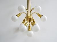 Loft design aranyozott mennyezeti lámpa vergoldeten Deckenleuchte gilded ceiling lamp csillár chandelier Kronleuchter shabby chic rusty style artkraft