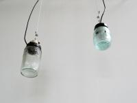 Loft design befőttesüveg mennyezeti lámpa Glas Deckenleuchten jar ceiling lights ipari industrial industriell shabby chic rusty style artkraft