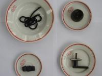 Loft design Zsolnay MSZMP tányér plate Platte