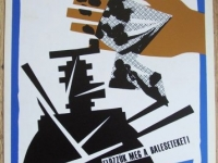 Loft design Retro munkavédelmi plakát 2