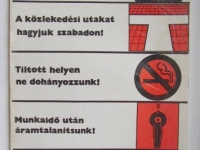 Loft design Retro munkavédelmi plakát 11