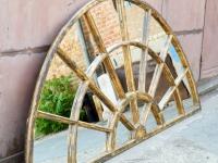 Loft deisgn régi hatalmas faablak-tükör riesiger alter Holzfenster –Spiegel old huge wooden window mirror ipari industrial industriell shabby chic rusty style artkraft