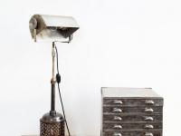 Loft design klasszikus hatalmas bankárlámpa Classic huge bankers lamp Klassische enorm Bankerlampe asztali lámpa table lamp Tischleuchte ipari industrial industriell shabby chic rusty style artkraft