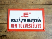 Loft design Régi zománctábla ipari old enamel plate alten Emailleschild