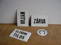 Loft design Régi zománctáblák Alte Emaille-Schilder Old enamel plates