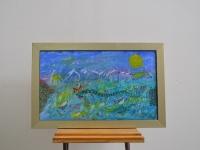 loft design Orosz Balázs Monster of Lupa sziget absztrakt eredeti olaj festmény original abstract oil painting ursprünglichen abstrakten Ölgemälde nyár summer Sommer