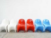 Loft design Panton jellegű szék kind of chair Sessel étkezőszék dining chair Esszimmerstuhl műanyag kerti szék plastic garden chair Plastikgartenstuhl ipari industrial industriell shabby chic rusty style artkraft