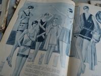 Loft design Régi divatlapok eredeti Original fashion magazines originale Modezeitschriften