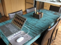 Loft design Duplex loft lakás dolgózó asztal work table