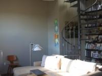 Loft design Duplex loft lakás nappali living room