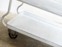 Loft design polcos alumínium kiskocsi Aluminium-Regal Handkarren Shovel aluminum trolley régi zsúrkocsi old dinner wagon Abendessen Wagen tálalóasztal szerviz kocsi ipari indusrial industriell shabby chic rusty style artkraft