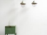 Loft design ipari csarnok rácsos mennyezeti lámpa Old industrial barred hanging lamps Alte Industrielampe
