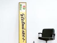 Loft design Régi fémtábla lemeztábla cégfelirat Élelmiszer bolt Giant original iron board Alte riesige Platte